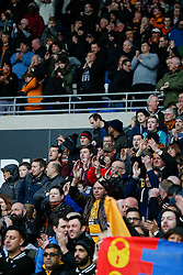 Wolverhampton Wanderers fans celebrate after their side win 0-1 - Photo mandatory by-line: Rogan Thomson/JMP - 07966 386802 - 28/02/2015 - SPORT - FOOTBALL - Cardiff, Wales - Cardiff City Stadium - Cardiff City v Wolverhampton Wanderers - Sky Bet Championship.