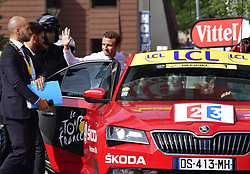 July 19, 2017 - Serre-Chevalier, France - SERRE CHEVALIER, FRANCE - JULY 19 : French president Emmanuel Macron  during stage 17 of the 104th edition of the 2017 Tour de France cycling race, a stage of 183 kms between La Mure and Serre Chevalier on July 19, 2017 in Serre Chevalier, France, 19/07/2017 (Credit Image: © Panoramic via ZUMA Press)