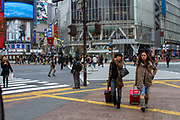 People in central Tokyo, Japan