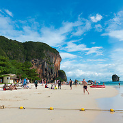 Scenic view of Phra Nang beach in Krabi, Thailand