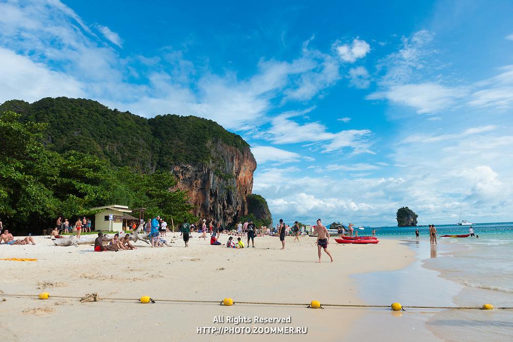 Scenic view of Phra Nang beach in Krabi, Thailand