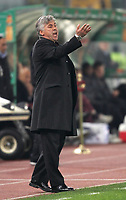 "Fotball<br /> Italia<br /> Foto: inside/Digitalsport<br /> NORWAY ONLY<br /> <br /> Carlo Ancelotti (Milan) trainer<br /> <br /> Italy ""Tim Cup"" 2006-2007<br /> 31 Jan 2007 (Semifinal 2nd leg)<br /> Roma v Milan (3-1)"