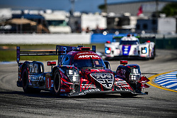 March 14, 2019 - Sebring, Etats Unis - 1 REBELLION RACING (CHE) REBELLION R13 GIBSON LMP1 MATHIAS BECHE (CHE) NEEL JANI (CHE) BRUNO SENNA  (Credit Image: © Panoramic via ZUMA Press)