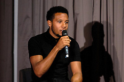 Korey Smith of Bristol City are interviewed on stage by Lisa Knights during the Lansdown Club event - Mandatory by-line: Robbie Stephenson/JMP - 06/09/2016 - GENERAL SPORT - Ashton Gate - Bristol, England - Lansdown Club -