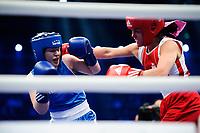Boksing , Amatørboksing ,  <br /> 24.02.17 , 20170224<br /> Boksestevnet The Nordic Rumble <br /> Norske Patricia Martinsen slo svenske Elise Saulescu <br /> Foto: Sjur Stølen / Digitalsport