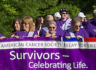 Pine Bush, New York - People from the Pine Bush community participate in the Relay for Life on Saturday, June 7, 2014. The Relay for Life is the American Cancer Society's largest fundraising event.