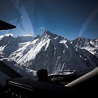 Looking for a landing zone (LZ), Glacier Bay National Park, Alaska.