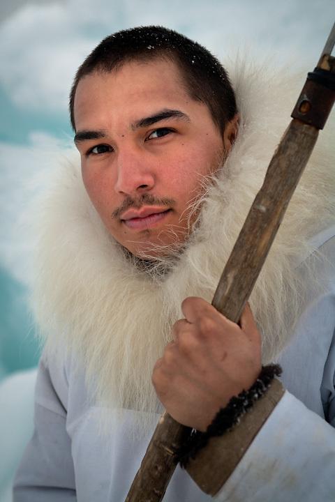Young Iñupiat hunter , Point Hope, Alaska.