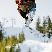 US Snowboarding Team member Shaun White competes in the half pipe during preliminaries at the 2009 LG Snowboard FIS World Cup at Cypress Mountain, British Columbia, on February 16th, 2009.