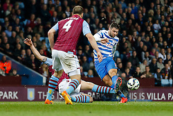 Charlie Austin of QPR shoots - Photo mandatory by-line: Rogan Thomson/JMP - 07966 386802 - 07/04/2015 - SPORT - FOOTBALL - Birmingham, England - Villa Park - Aston Villa v Queens Park Rangers - Barclays Premier League.