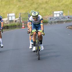 WIJSTER (NED) June 20: <br /> CYCLING <br /> Dutch Nationals Road Men up and around the Col du VAM<br /> Boy van Poppel, Oscar Riesebeek