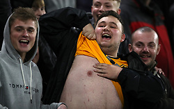 A wolves fan during the Emirates FA Cup, third round match at Molineux, Wolverhampton.