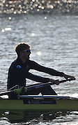 Caversham  Great Britain.<br /> Constantine LOULOUDIS [Relaxed, Loose, outside hand on the Oar/Blade handle]<br /> 2016 GBR Rowing Team Olympic Trials GBR Rowing Training Centre, Nr Reading  England.<br /> <br /> Tuesday  22/03/2016 <br /> <br /> [Mandatory Credit; Peter Spurrier/Intersport-images]