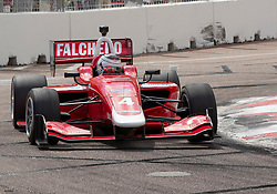 March 9, 2019 - St. Petersburg, FL, U.S. - ST. PETERSBURG, FL - MARCH 09: Juilen Falchero (4) during the Indy Lights Race of St. Petersburg on March 9 in St. Petersburg, FL. (Photo by Andrew Bershaw/Icon Sportswire) (Credit Image: © Andrew Bershaw/Icon SMI via ZUMA Press)
