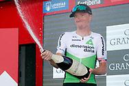 Podium, Champagne, Benjamin King (USA - Dimension Data) winner, during the UCI World Tour, Tour of Spain (Vuelta) 2018, Stage 9, Talavera de la Reina - La Covatilla 200,8 km in Spain, on September 3rd, 2018 - Photo Luis Angel Gomez / BettiniPhoto / ProSportsImages / DPPI