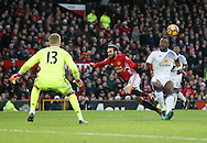 Manchester United's Juan Mata gets barged off the ball by Sunderland's Lamine Kone but no penalty is given during the Premier League match at Old Trafford Stadium, London. Picture date December 26th, 2016 Pic David Klein/Sportimage