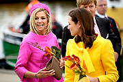 Koninginnedag 2008 / Queensday 2008. <br /> <br /> Koningin Beatrix viert Koninginnedag dit jaar in Friesland. De vorstin en haar familie bezochten op 30 april Makkum en Franeker.<br /> <br /> Queen Beatrix celebrates Queensday this year in Friesland (the Nothren provice in Holland). The Queen and its family visited Makkum and Franeker on 30 April.<br /> <br /> Op de foto/ On the Photo:<br /> <br /> Princes Maxima and Princes Aimee