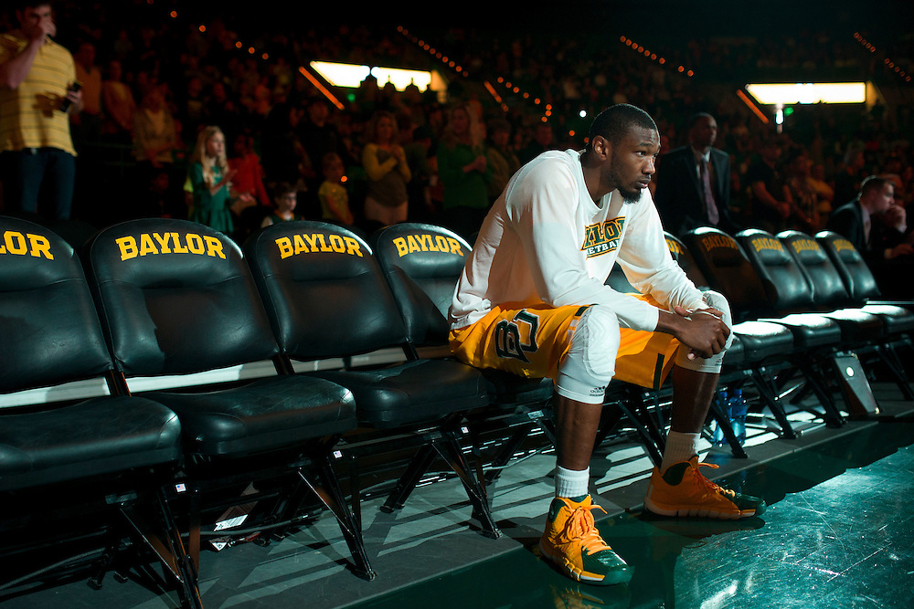WACO, TX - JANUARY 11: Cory Jefferson #34 of the Baylor Bears is introduced before tipoff against the TCU Horned Frogs on January 11, 2014 at the Ferrell Center in Waco, Texas.  (Photo by Cooper Neill/Getty Images) *** Local Caption *** Cory Jefferson