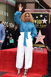 Mary J. Blige attends the ceremony honoring Taraji P. Henson with a star on The Hollywood Walk Of Fame on January 28, 2019 in Los Angeles, CA, USA. Photo by Lionel Hahn/ABACAPRESS.COM