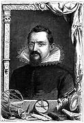 Johannes Kepler (1571-1630) German astronomer. Wood engraving, Paris c1870