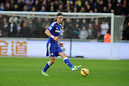 Filipe Luis of Chelsea in action .Barclays Premier League match, Swansea city v Chelsea at the Liberty Stadium in Swansea, South Wales on Saturday 17th Jan 2015.<br /> pic by Andrew Orchard, Andrew Orchard sports photography.