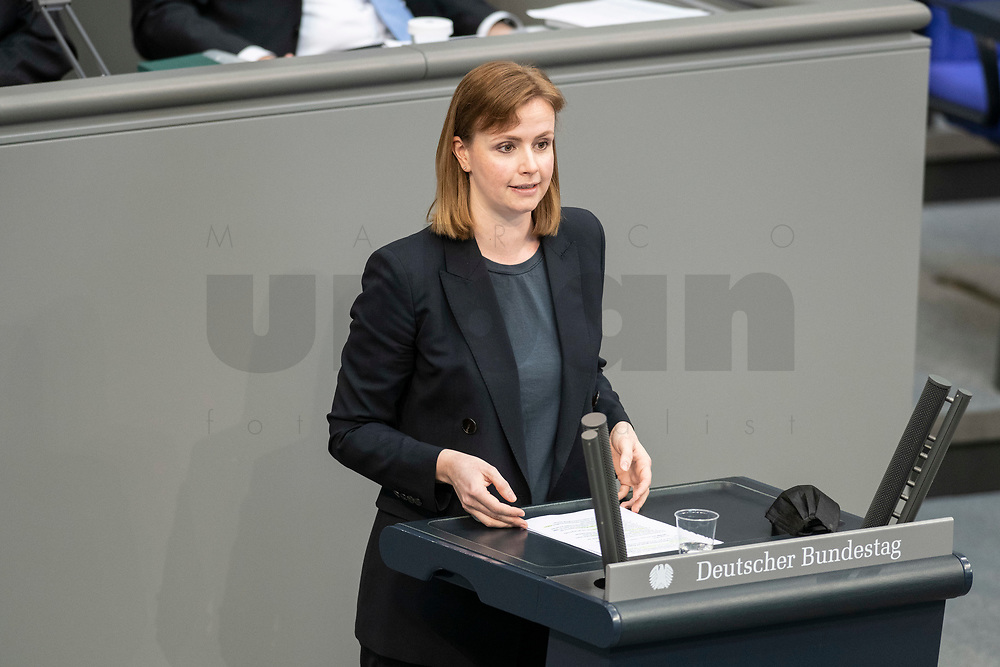 05 MAR 2021, BERLIN/GERMANY:<br /> Gyde Jensen, MdB, FDP, waehrend der Debatte zum Internationalen Frauentag; Plenum, Reichstagsgebaeude, Deutscher Bundestag<br /> IMAGE: 20210305-01-035