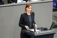 05 MAR 2021, BERLIN/GERMANY:<br /> Gyde Jensen, MdB, FDP, waehrend der Debatte zum Internationalen Frauentag; Plenum, Reichstagsgebaeude, Deutscher Bundestag<br /> IMAGE: 20210305-01-035