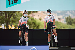 Karlijn Swinkels (NED) and Nancy van der Burg (NED) on stage at the 2020 La Course By Le Tour with FDJ, a 96 km road race in Nice, France on August 29, 2020. Photo by Sean Robinson/velofocus.com