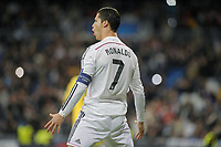 Real Madrid Forward, Cristiano Ronaldo dos Santos - RONALDO, number 7 celebrates after scoring a goal <br /> Round 6 of the CHAMPIONS league, soccer match between Real Madrid - Ludogorets Razgrad <br /> Madrid - Spain by December 9, 2014. .<br /> Norway only