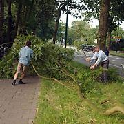 Tak afgebroken door windstoor Crailoseweg Huizen