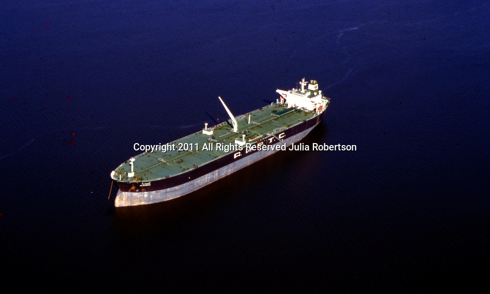 Aerial view of <br /> Arab Maritime Petroleum Transport Company (AMPTC) vessel in the gulf of mexico