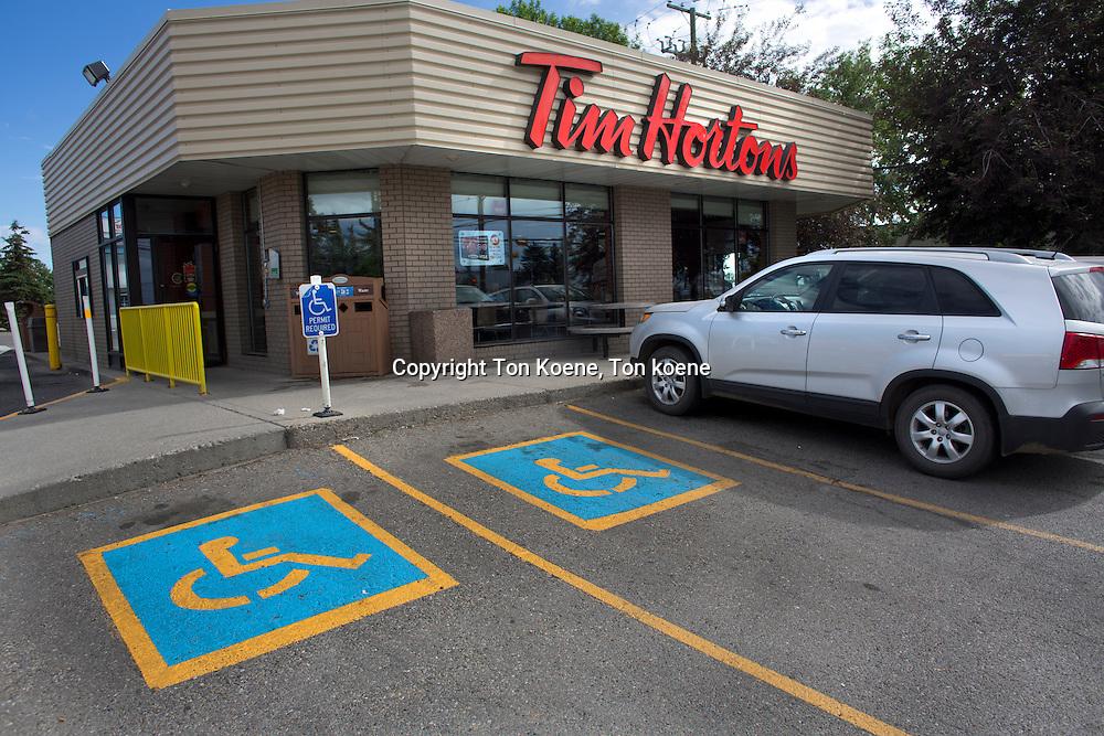 Tim Hortons restaurant in Canada