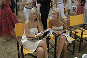 Louise Redknap and Sophia de Stefano, Veuve Clicquot Gold Cup 2006. Final day. 23 July 2006. ONE TIME USE ONLY - DO NOT ARCHIVE  © Copyright Photograph by Dafydd Jones 66 Stockwell Park Rd. London SW9 0DA Tel 020 7733 0108 www.dafjones.com