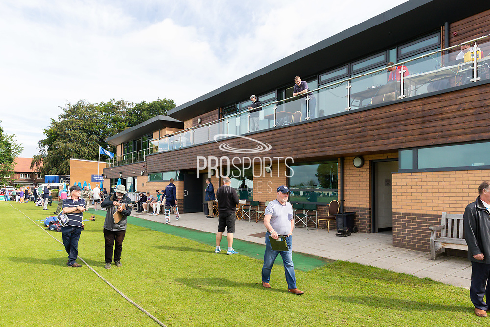 A view of the pavillion at York Cricket Club ahead of the Specsavers County Champ Div 1 match between Yorkshire County Cricket Club and Warwickshire County Cricket Club at York Cricket Club, York, United Kingdom on 18 June 2019.