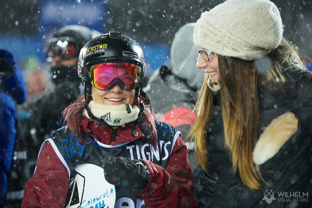 Elena Hight during Women's Snowboard SuperPipe Finals at the 2013 X Games Tignes in Tignes, France. ©Brett Wilhelm/ESPN