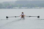 Hazewinkel. BELGUIM  GBR LW1X. Jo HAMMOND. 2004 GBR Rowing Trials - Rowing Course, Bloso, Hazewinkel. BELGUIM. [Mandatory Credit Peter Spurrier/ Intersport Images]