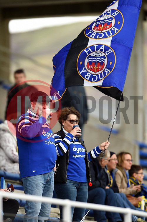 A general view of Bath Rugby supporters - Mandatory byline: Patrick Khachfe/JMP - 07966 386802 - 15/12/2019 - RUGBY UNION - Stade Marcel-Michelin - Clermont-Ferrand, France - Clermont Auvergne v Bath Rugby - Heineken Champions Cup
