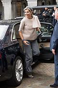 Koning Willem-Alexander en koningin Maxima tijdens de buitengewone vergadering van de Raad van State ter gelegenheid van het afscheid van vice-president Piet Hein Donner.<br /> <br /> King Willem-Alexander and Queen Maxima at the extraordinary meeting of the Council of State on the occasion of the farewell of Vice-President Piet Hein Donner.<br /> <br /> Op de foto / On the photo:  Koningin Maxima / Queen Maxima
