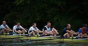 Henley. Great Britain.   Molesey Eights 40+ and 50+ 175th  Henley Royal Regatta, Henley Reach. England. 07:54:53  Sunday  06/07/2014. [Mandatory Credit; Intersport-images] <br /> <br /> Crews 40's Bow, Dan RITCHIE, James WRIGHT, Jonny SEARLE, Guy POOLEY, Alex Partridge, Mike BLOMQUIST, Simon FIELDHOUSE, Dave GILLARD, Neil CHUGANI,<br /> <br /> 50's Richard STANHOPE, Martin CROSS, Malcolm MCGOWAN, Joe MICHELS, Jean CHRISTOPHE-ROLLAND, Matt PINSENT, Ian MCNUFF, Diederik SIMON cox Gary HERBERT