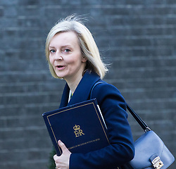 Downing Street, London, March 21st 2017. Justice Secretary and Lord Chancellor Liz Truss attends the weekly cabinet meeting at 10 Downing Street.