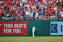 October 7, 2017 - Washington, DC, USA - Washington Nationals left fielder Jayson Werth looks at a home run by the Chicago Cubs' Willson Contreras in the second inning during Game 2 of the National League Division Series at Nationals Park in Washington, D.C., on Saturday, Oct. 7, 2017. (Credit Image: © Brian Cassella/TNS via ZUMA Wire)