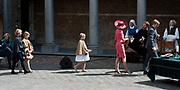 Koningsdag in Dordrecht / Kingsday in Dordrecht<br /> <br /> Op de foto / On the photo: <br /> <br />  Koning Willem-Alexander en Koningin Maxima met hun dochters, Prinses Amalia , Prinses Alexia en Prinses Ariane wonen de opening bij van het interactief historisch museum Het Hof van Dordrecht / Hof van Nederland <br /> <br /> <br /> King Willem-Alexander and Queen Maxima with their daughters, Amalia, Princess Alexia and Princess Ariane wonen opening at the interactive history museum, the Court of Dordrecht