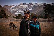 Trekking in Mont Fanskye, Tadjikistan, Central Asia. September 2019.