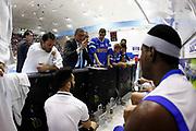 DESCRIZIONE : Capo dOrlando Lega A 2014-15 Orlandina Basket Olimpia Emporio Armani EA7 Milano<br /> GIOCATORE : Giulio Griccioli Time Out<br /> CATEGORIA : Time Out Head Coach<br /> SQUADRA : Orlandina Basket EA7 Emporio Armani Olimpia Milano<br /> EVENTO : Campionato Lega A 2014-2015 <br /> GARA : Orlandina Basket EA7 Emporio Armani Olimpia Milano<br /> DATA : 19/04/2015<br /> SPORT : Pallacanestro <br /> AUTORE : Agenzia Ciamillo-Castoria/G.Pappalardo<br /> Galleria : Lega Basket A 2014-2015<br /> Fotonotizia : Capo dOrlando Lega A 2014-15 Orlandina Basket EA7 Emporio Armani Olimpia Milano