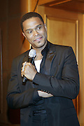 Maxwell at his Press conference announcing his first new album in eight years, ' BLACKsummers'night,'  held at The Sony Club on April 28, 2009 in New York City