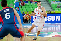 Bogdan Bogdanovic #7 of Serbia during basketball match between National teams of France and Serbia in 2nd Round at Day 12 of Eurobasket 2013 on September 14, 2013 in SRC Stozice, Ljubljana, Slovenia. (Photo By Urban Urbanc / Sportida)