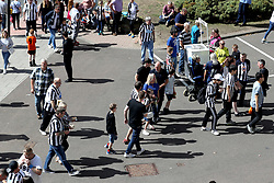 A general view of fans outside the ground before the Premier League match at St James' Park, Newcastle.
