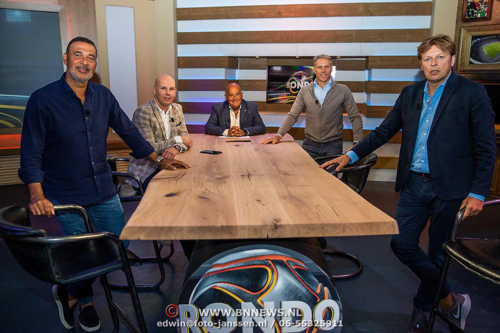NLD/Blorndaal/20200705 - Rondo opname, Ruud Gullit, Jan van Halst, Jack van Gelder, Marco van Basten en Youri Mulder