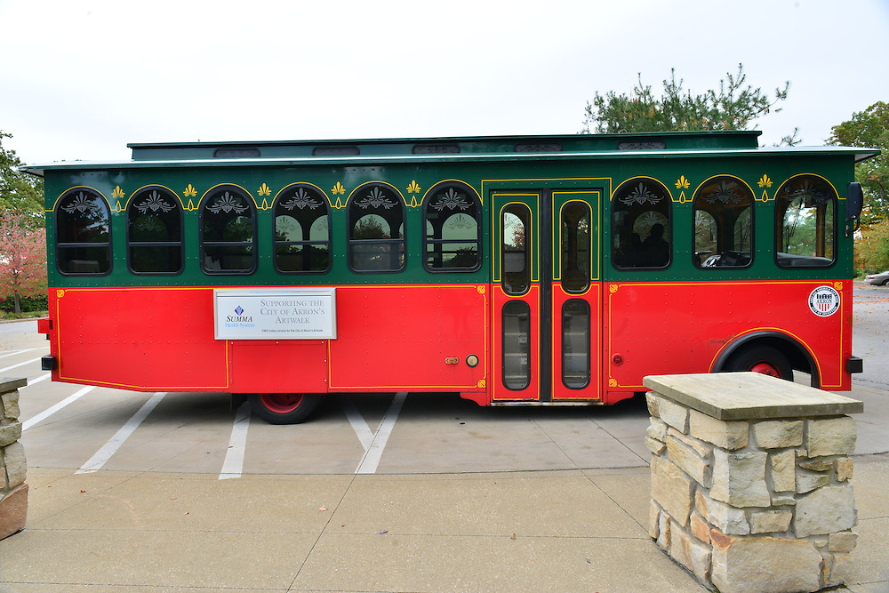 Trolley at the Akron Zoo.