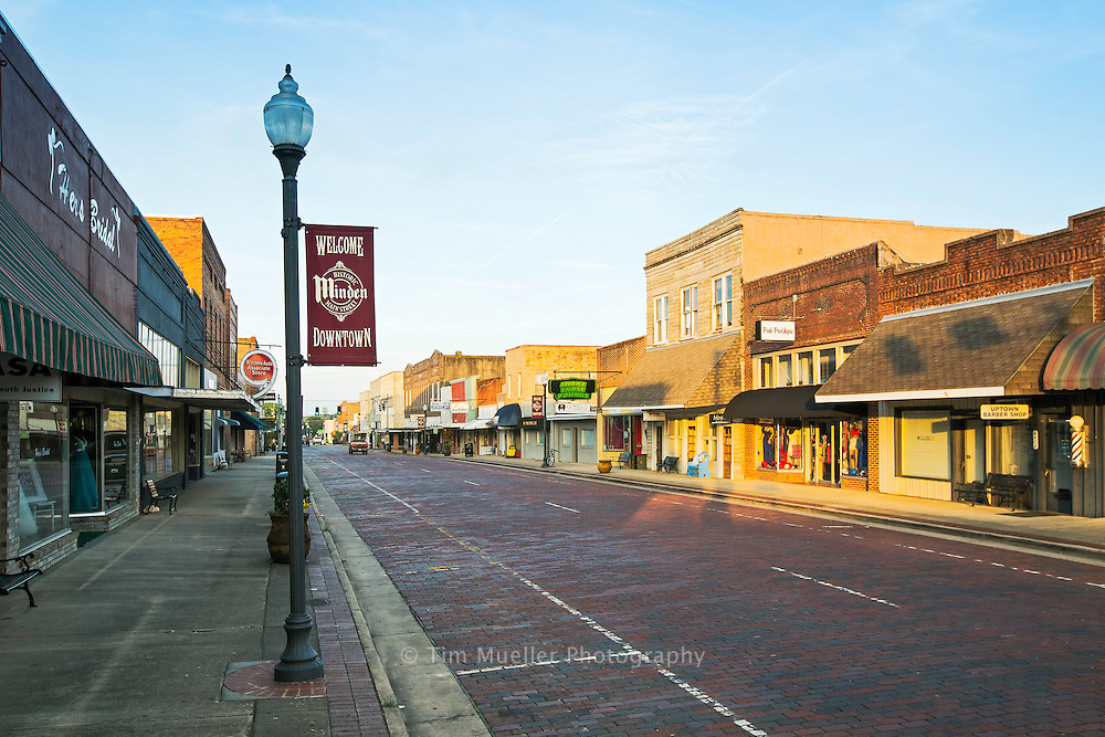 Downtown Minden, La. is located south of the Boom or Bust Byway. The Byway follows Highway 2 and is defined by the Louisiana Texas border on the west and then loops around the town of Homer to the east. The Byway is comprised of four parishes: Caddo, Bossier, Webster and Claiborne.